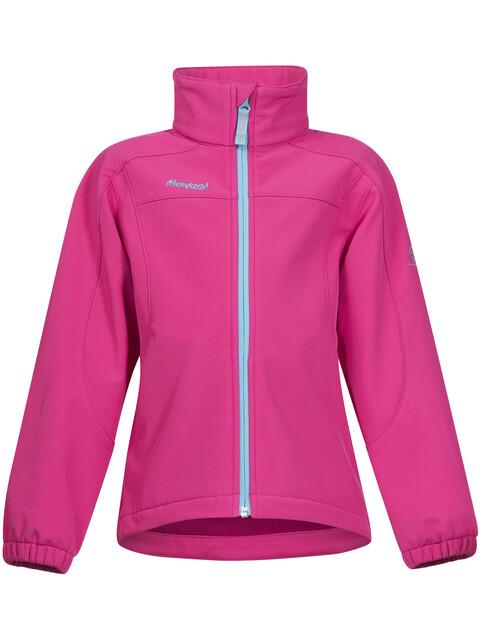 Bergans Kids Reine Jacket Hot Pink/Deep Turquoise